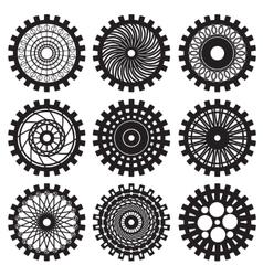 Steampunk gears vector