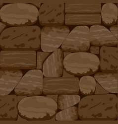 Stone textured background in chocolate walnut tone vector