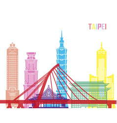 Taipei skyline pop vector
