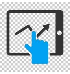 Tap Trend on PDA Icon vector image