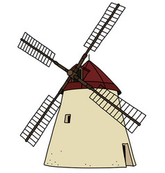 the old strone windmill vector image