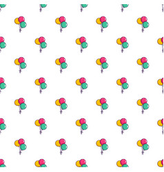Three colorful balloons pattern vector