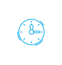 time management linear icon concept time vector image