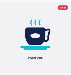 Two color coffe cup icon from food concept vector