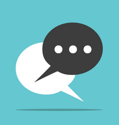 two speech bubbles vector image