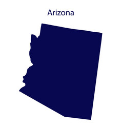 United states arizona dark blue silhouette the vector