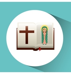 Virgin mary guadalupe blessed bible design vector