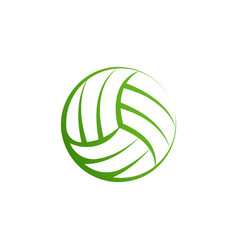volleyball logo element volley ball icon vector image