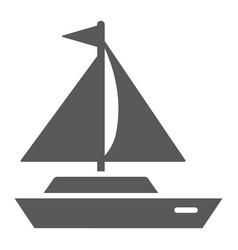 yacht glyph icon transport and ship boat sign vector image