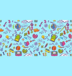 education seamless colorfull pattern vector image