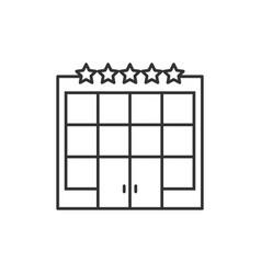 hotel building line icon vector image vector image