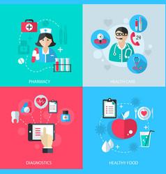 Medicine healthcare services concept vector image vector image