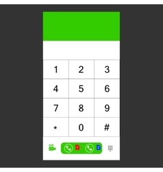 Number set keypad for the smartphone vector image
