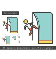 rock climbing line icon vector image