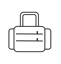 suitcase travel equipment line vector image