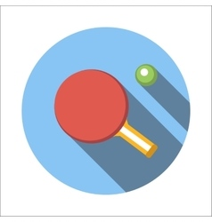 Table tennis flat icon vector