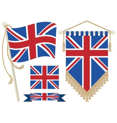 uk flag and pennant vector image