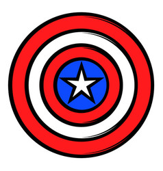 usa star icon cartoon vector image