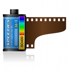 35mm film canister vector image
