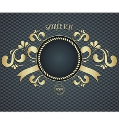 Elegant template frame design for luxury greeting vector image
