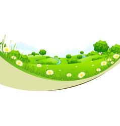 Green Landscape vector image vector image