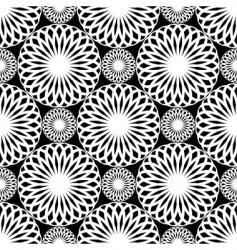 rosette pattern vector image vector image