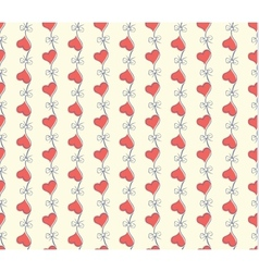 Seamless heart pattern love vector image