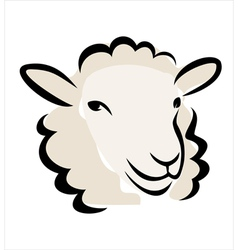 sheep portrait vector image vector image