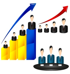 businessman chart icon vector image
