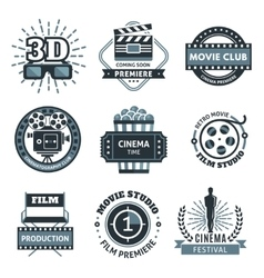 Cinema Label Set vector image