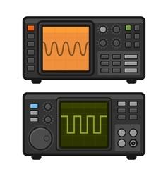 Digital Oscilloscope Set vector image vector image
