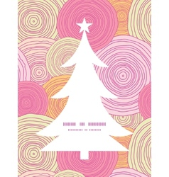 doodle circle texture Christmas tree silhouette vector image