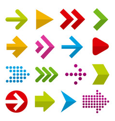 flat design paper arrows vector image