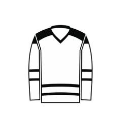 Hockey uniform black simple icon vector image