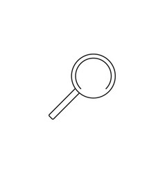search linear icon vector image vector image