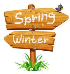 spring wooden arrow icon vector image