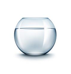 transparent glass fishbowl aquarium with water vector image