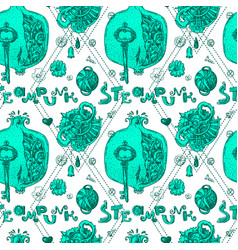 garnet steampunk style vector image vector image