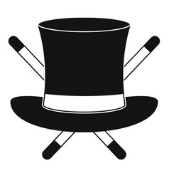 hat with a stick icon simple style vector image