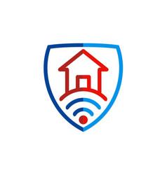 House secure signal logo vector