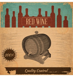 Red Wine Card vector image