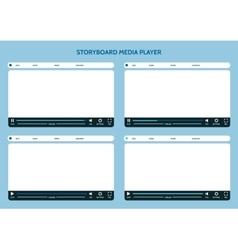 Storyboard media player vector image