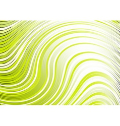 wavy abstract backbround in green color vector image vector image