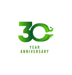 30 years anniversary flux celebration template vector