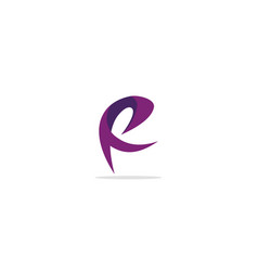 Abstract r initial logo vector