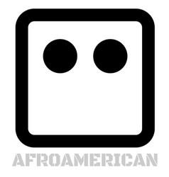 afroamerican conceptual graphic icon vector image