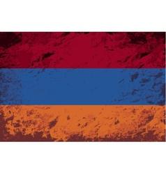 Armenian flag grunge background vector
