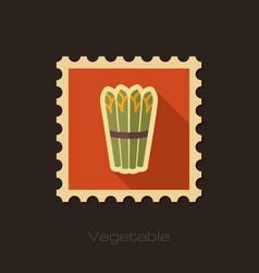 asparagus flat stamp vegetable vector image