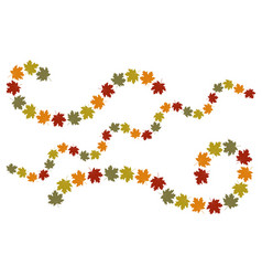autumn leaves swirl elements vector image