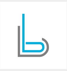 B bb bl initials line art geometric company logo vector